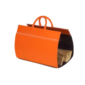 Midipy Leather Logs Holder Orange