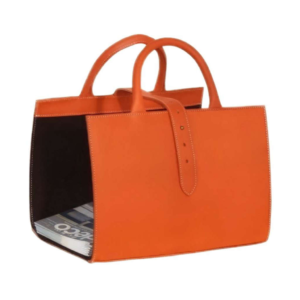 Midipy Leather Magazine Holder Orange